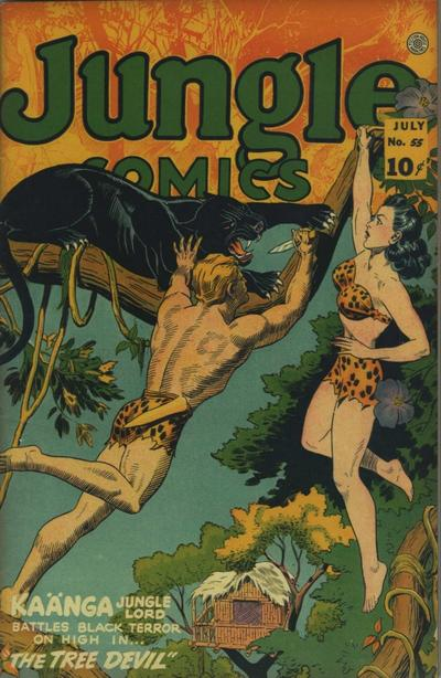 Cover for Jungle Comics (Fiction House, 1940 series) #55