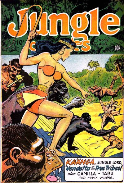 Cover for Jungle Comics (Fiction House, 1940 series) #92