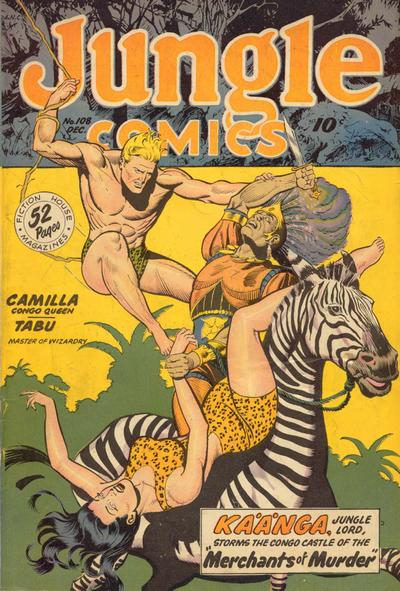 Cover for Jungle Comics (Fiction House, 1940 series) #108