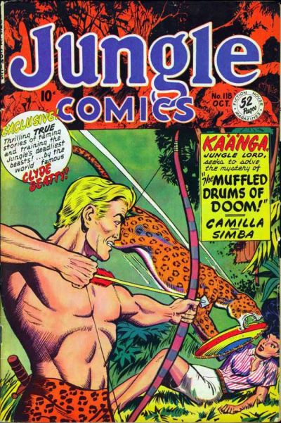 Cover for Jungle Comics (Fiction House, 1940 series) #118