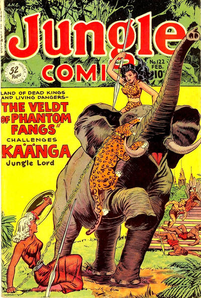 Cover for Jungle Comics (Fiction House, 1940 series) #122