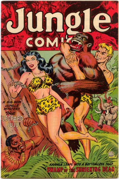 Cover for Jungle Comics (Fiction House, 1940 series) #155