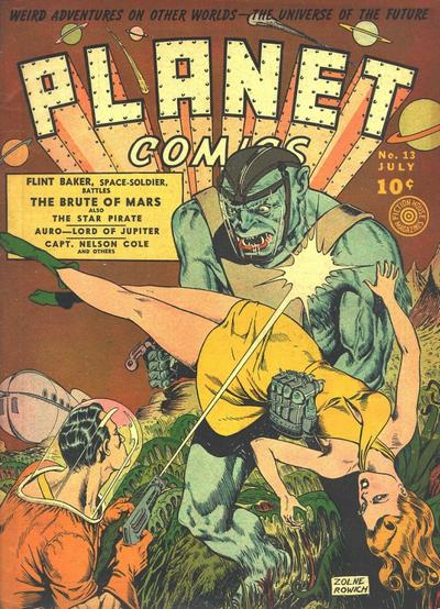Cover for Planet Comics (Fiction House, 1940 series) #13
