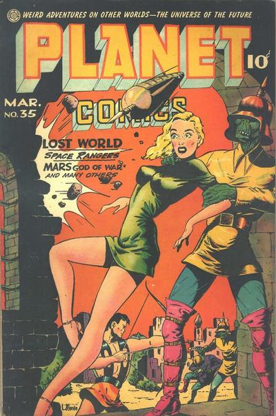 Cover for Planet Comics (Fiction House, 1940 series) #35