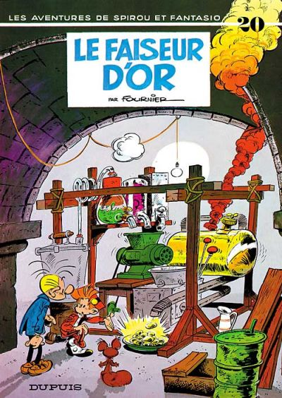 Cover for Les Aventures de Spirou et Fantasio (1950 series) #20 - Le faiseur d&#39;or