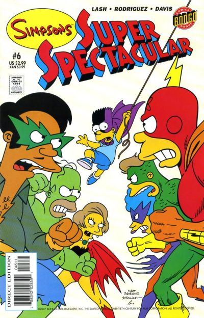 Cover for Bongo Comics Presents Simpsons Super Spectacular (Bongo, 2005 series) #6