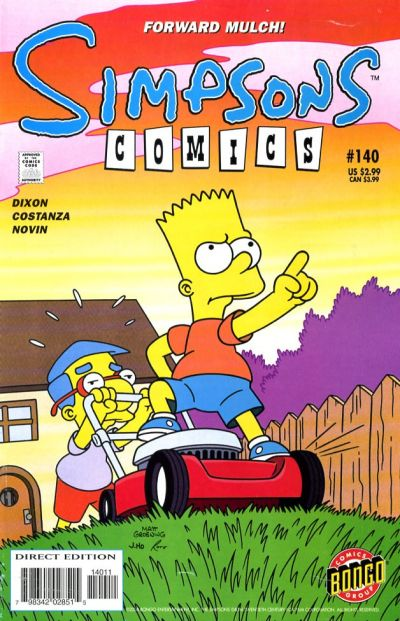 Cover for Simpsons Comics (Bongo, 1993 series) #140
