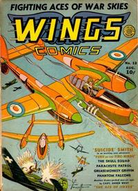 Cover Thumbnail for Wings Comics (Fiction House, 1940 series) #12