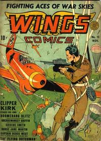 Cover Thumbnail for Wings Comics (Fiction House, 1940 series) #15