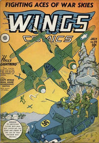 Cover Thumbnail for Wings Comics (Fiction House, 1940 series) #35
