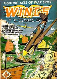 Cover Thumbnail for Wings Comics (Fiction House, 1940 series) #43