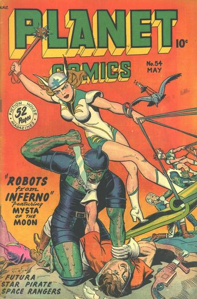 Cover for Planet Comics (Fiction House, 1940 series) #54