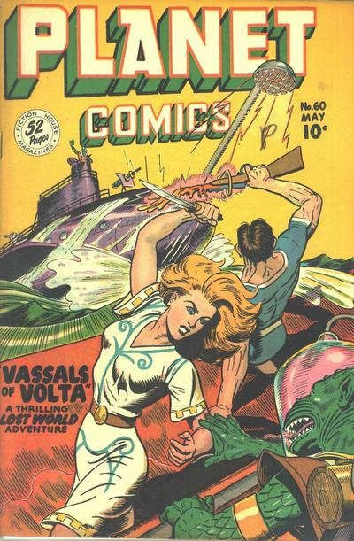 Cover for Planet Comics (Fiction House, 1940 series) #60