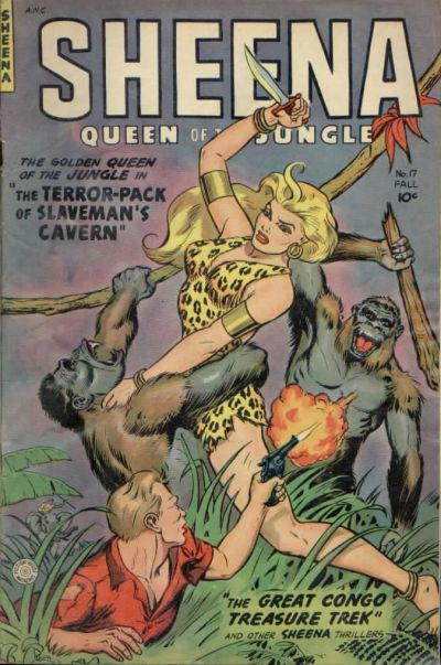 Cover for Sheena, Queen of the Jungle (Fiction House, 1942 series) #17