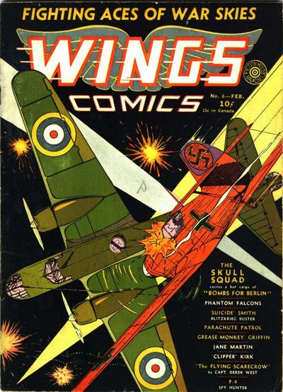 Cover for Wings Comics (Fiction House, 1940 series) #6