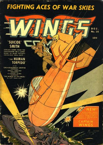Cover for Wings Comics (Fiction House, 1940 series) #16