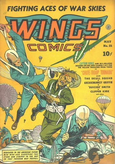 Cover for Wings Comics (Fiction House, 1940 series) #21