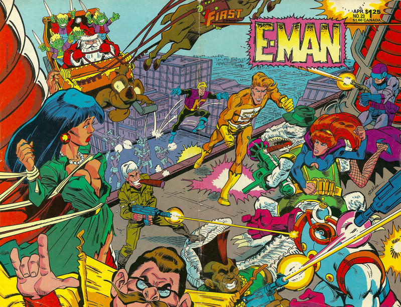 Cover for E-Man (First, 1983 series) #23