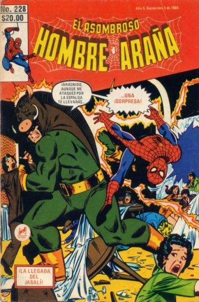 Cover for El Asombroso Hombre Araa (1980 series) #228