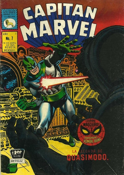 Cover for Capitán Marvel (1968 series) #7