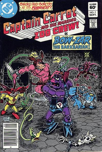 Cover for Captain Carrot and His Amazing Zoo Crew (1982 series) #7