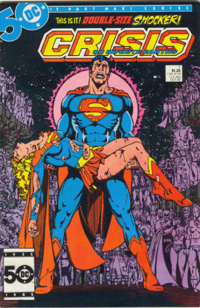 Cover for Crisis on Infinite Earths (1985 series) #7 [Direct]