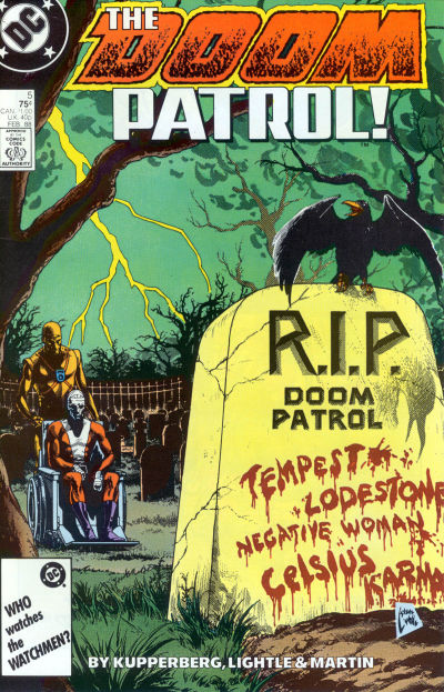 Cover for Doom Patrol (DC, 1987 series) #5 [Direct Edition]
