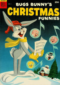 Cover for Bugs Bunny's Christmas Funnies (Dell, 1950 series) #5