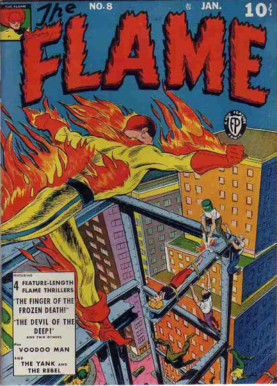 Cover for The Flame (1940 series) #8