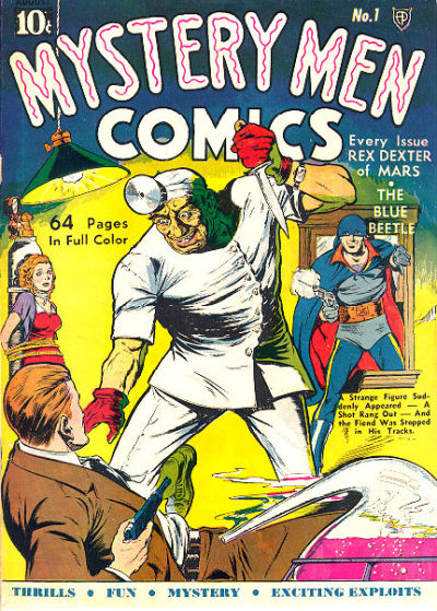 Cover for Mystery Men Comics (1939 series) #1