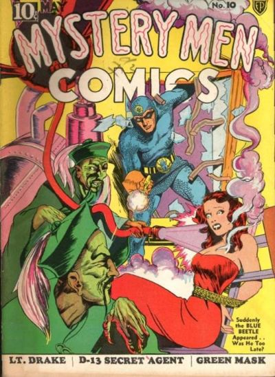 Cover for Mystery Men Comics (1939 series) #10