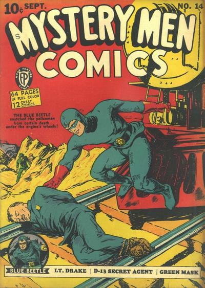 Cover for Mystery Men Comics (Fox, 1939 series) #14