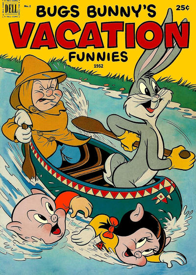 Cover for Bugs Bunny's Vacation Funnies (Dell, 1951 series) #2