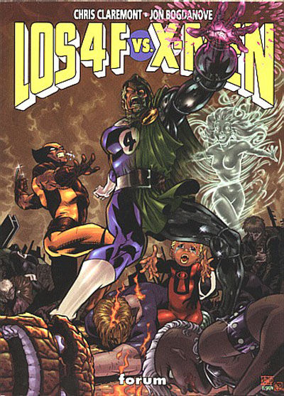 Cover for Los 4 Fantásticos vs. X-Men (Planeta DeAgostini, 1998 series)