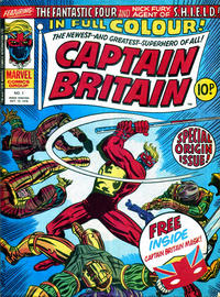 Cover Thumbnail for Captain Britain (Marvel UK, 1976 series) #1