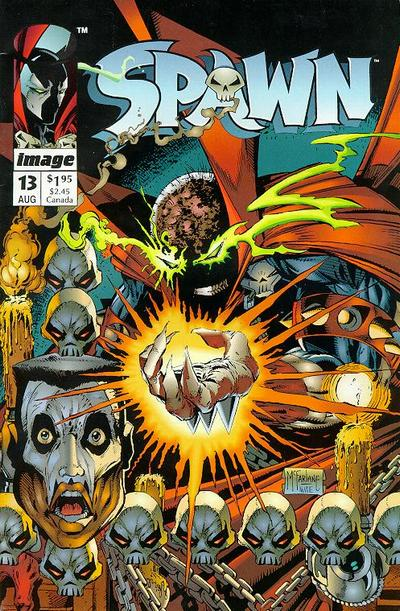 Cover for Spawn (Image, 1992 series) #13 [Newsstand]