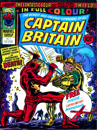 Cover for Captain Britain (Marvel UK, 1976 series) #2