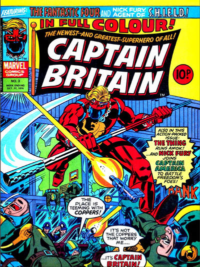 Cover for Captain Britain (Marvel UK, 1976 series) #3