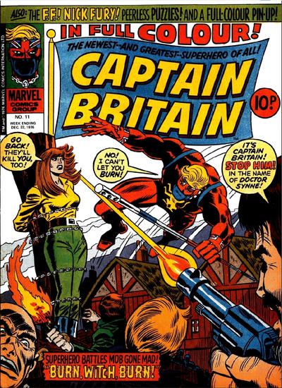 Cover for Captain Britain (1976 series) #11