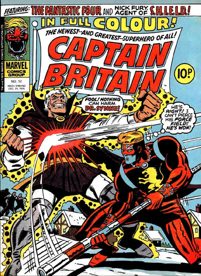 Cover for Captain Britain (1976 series) #12