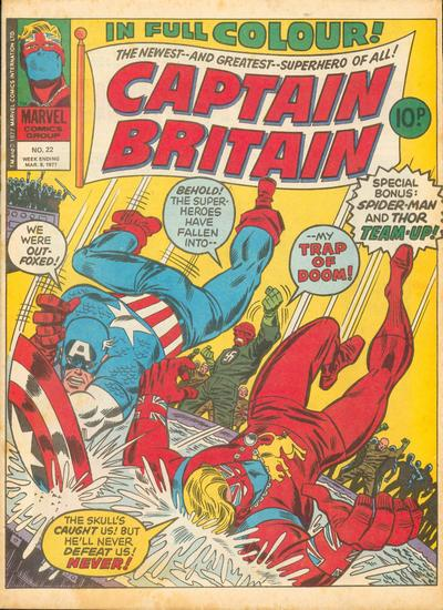 Cover for Captain Britain (Marvel UK, 1976 series) #22