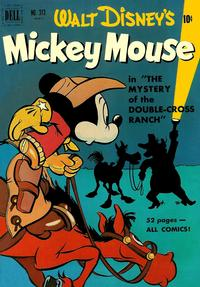 Cover Thumbnail for Four Color (Dell, 1942 series) #313 - Walt Disney's Mickey Mouse in The Mystery of the Double-Cross Ranch
