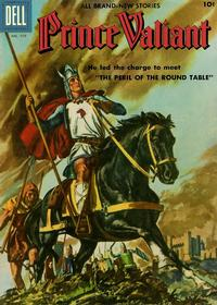 Cover Thumbnail for Four Color (Dell, 1942 series) #719 - Prince Valiant [Prince Valiant pin-up back cover]