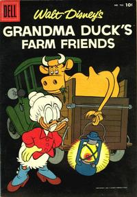 Cover Thumbnail for Four Color (Dell, 1942 series) #763 - Walt Disney's Grandma Duck's Farm Friends