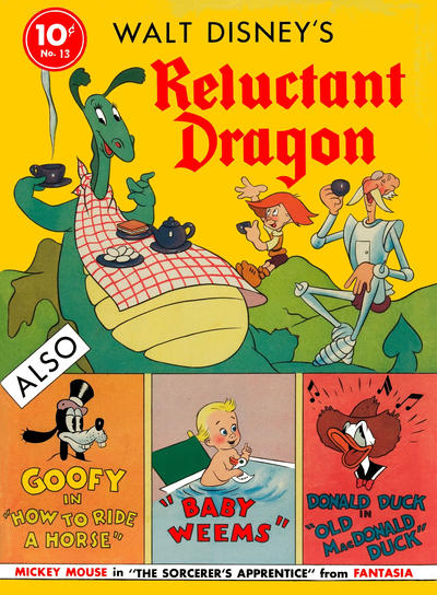 Cover for Four Color (Dell, 1939 series) #13 - Walt Disney's Reluctant Dragon