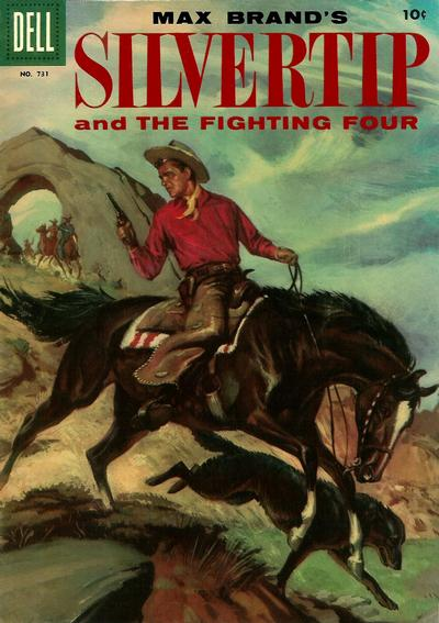 Cover for Four Color (Dell, 1942 series) #731 - Max Brand's Silvertip and the Fighting Four