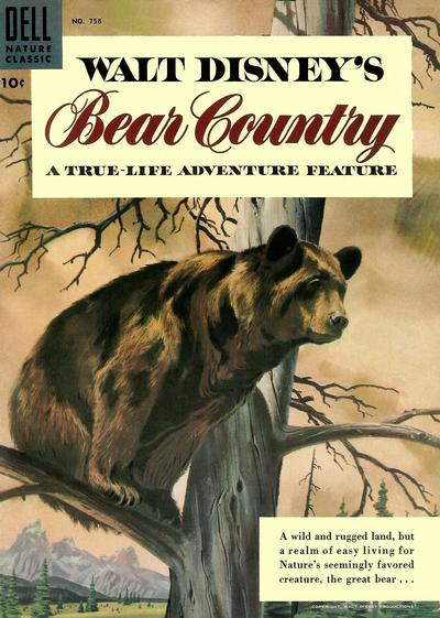 Cover for Four Color (Dell, 1942 series) #758 - Walt Disney's Bear Country