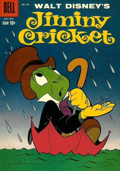 Cover for Four Color (Dell, 1942 series) #989 - Walt Disney's Jiminy Cricket