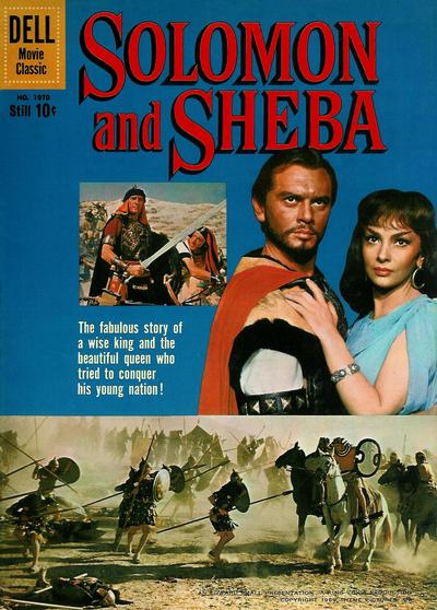Cover for Four Color (Dell, 1942 series) #1070 - Solomon and Sheba