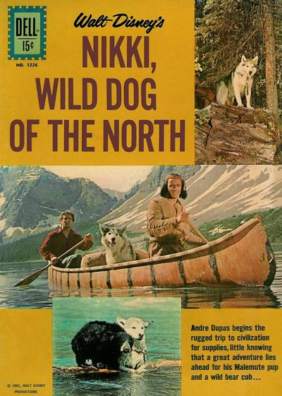 Cover for Four Color (Dell, 1942 series) #1226 - Walt Disney's Nikki, Wild Dog of the North